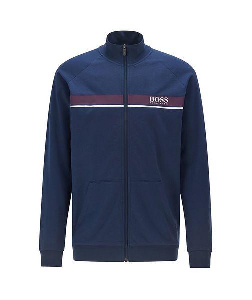 BOSS Zip-Up Cotton Sweatshirt