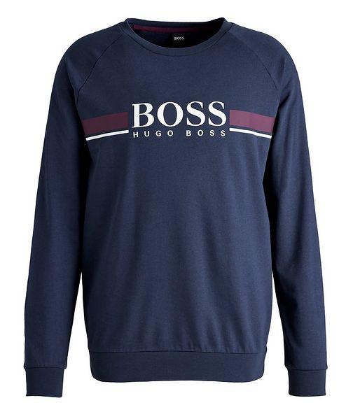 BOSS Printed Logo Cotton Sweatshirt