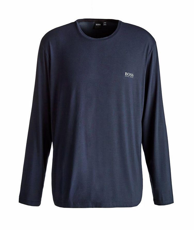 Long-Sleeve Stretch-Modal T-Shirt image 0