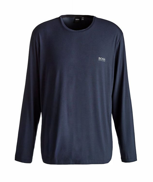 Long-Sleeve Stretch-Modal T-Shirt picture 1