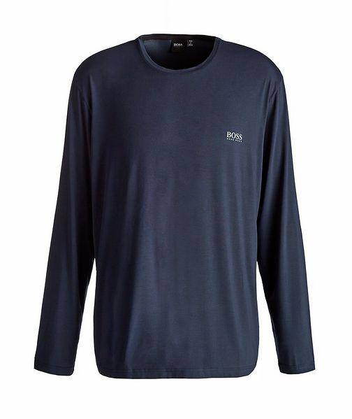 BOSS Long-Sleeve Stretch-Modal T-Shirt