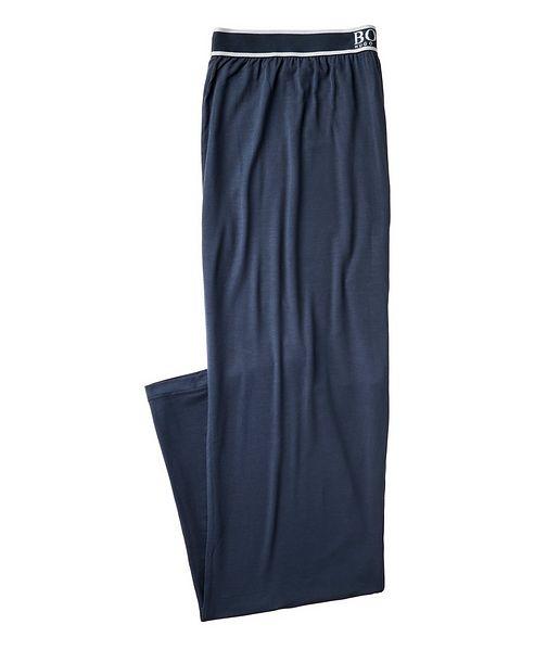 BOSS Logo Stretch-Modal Pants