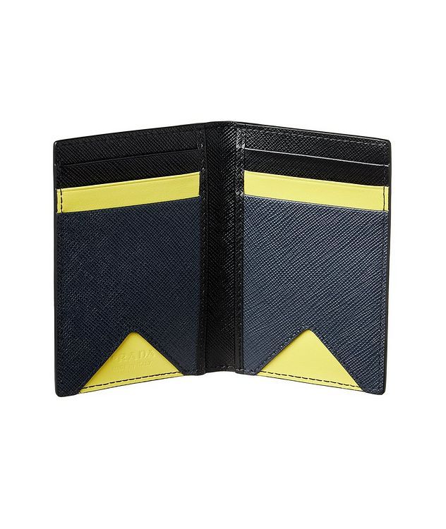Saffiano Leather Folding Card Holder picture 2