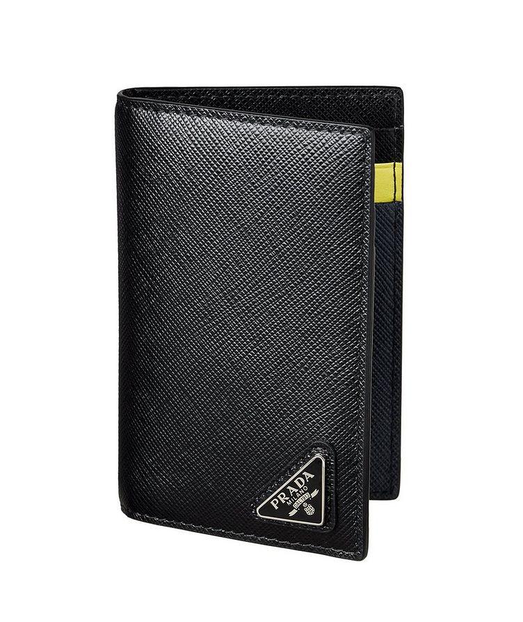 Saffiano Leather Folding Card Holder image 0