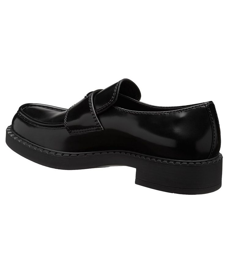Logo Spazzolato Leather Loafers image 1