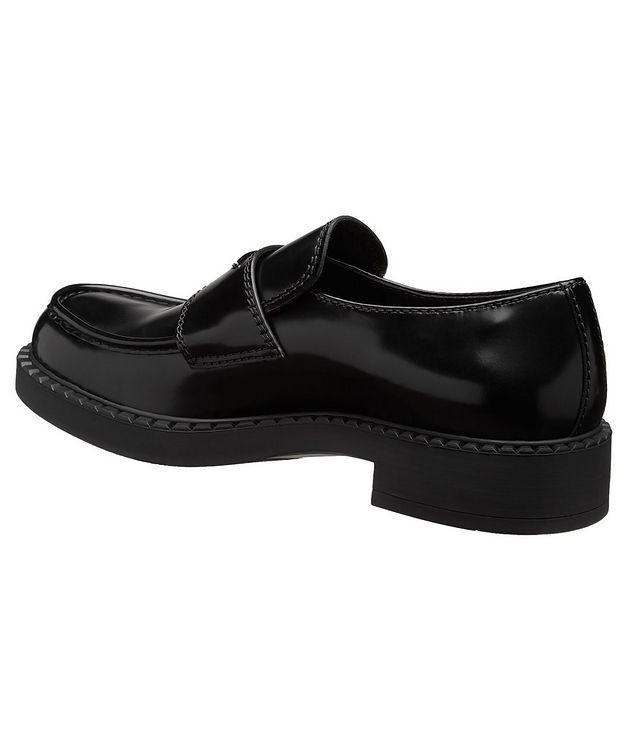 Logo Spazzolato Leather Loafers picture 2