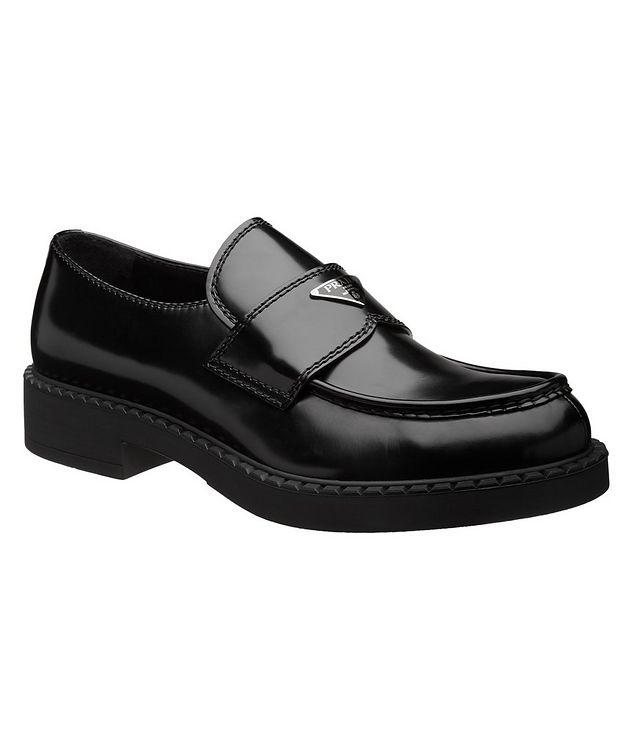 Logo Spazzolato Leather Loafers picture 1