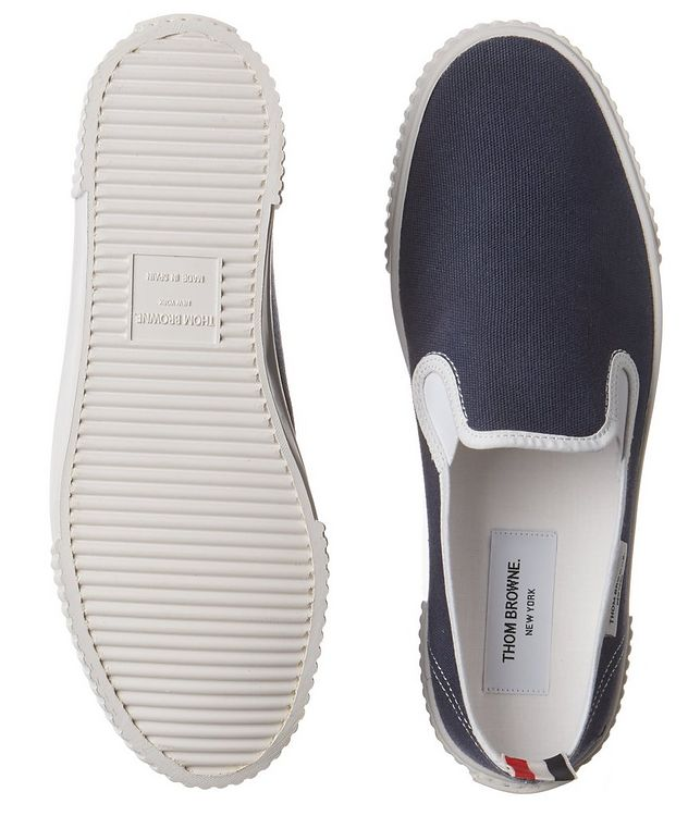Heritage Canvas Slip-On Sneakers picture 3