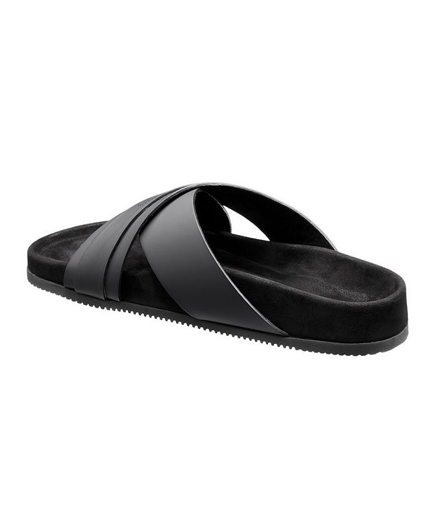 Criss-Cross Leather Slides picture 2