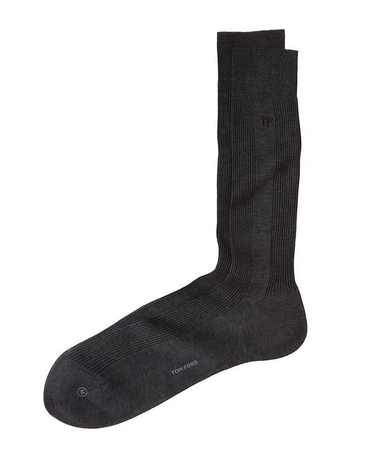 Ribbed High Dress Socks image 0