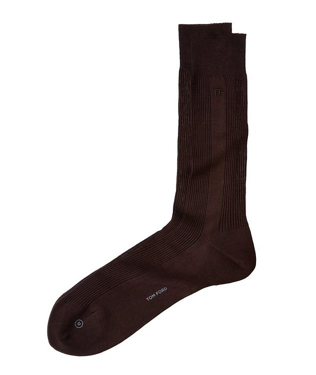 Ribbed High Dress Socks picture 1