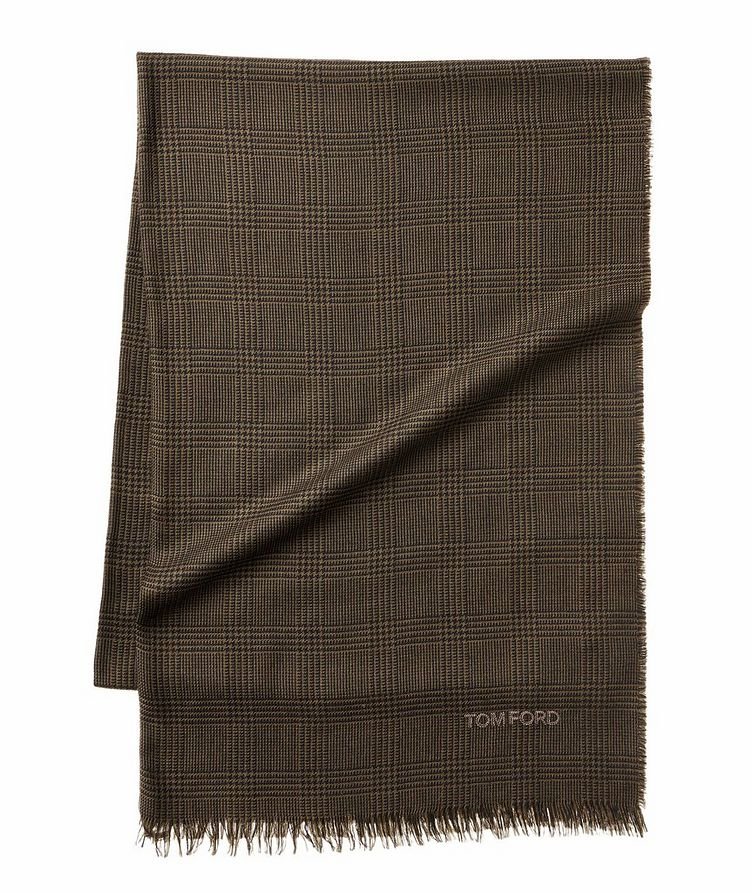 Prince of Wales Tartan Wool Scarf image 0