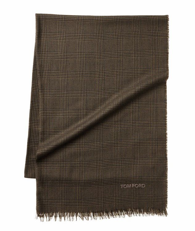 Prince of Wales Tartan Wool Scarf picture 1