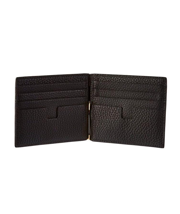 Grain Leather Money Clip Wallet image 1
