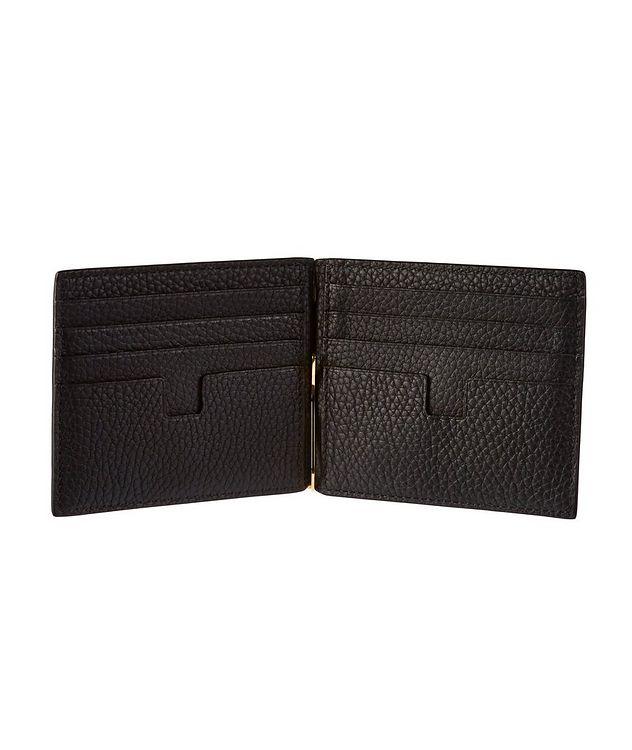 Grain Leather Money Clip Wallet picture 2