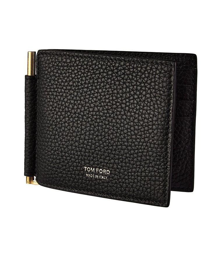 Grain Leather Money Clip Wallet image 0