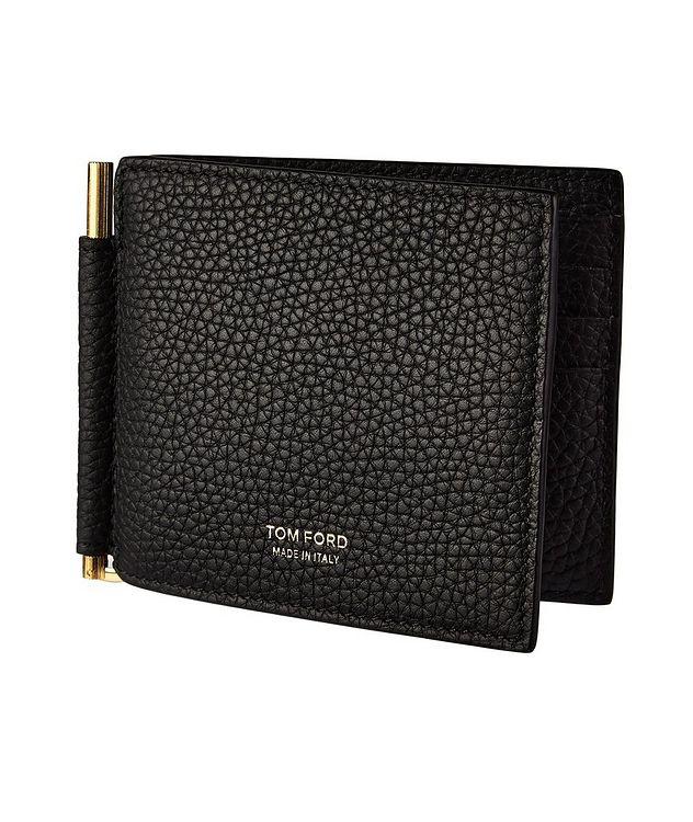 Grain Leather Money Clip Wallet picture 1