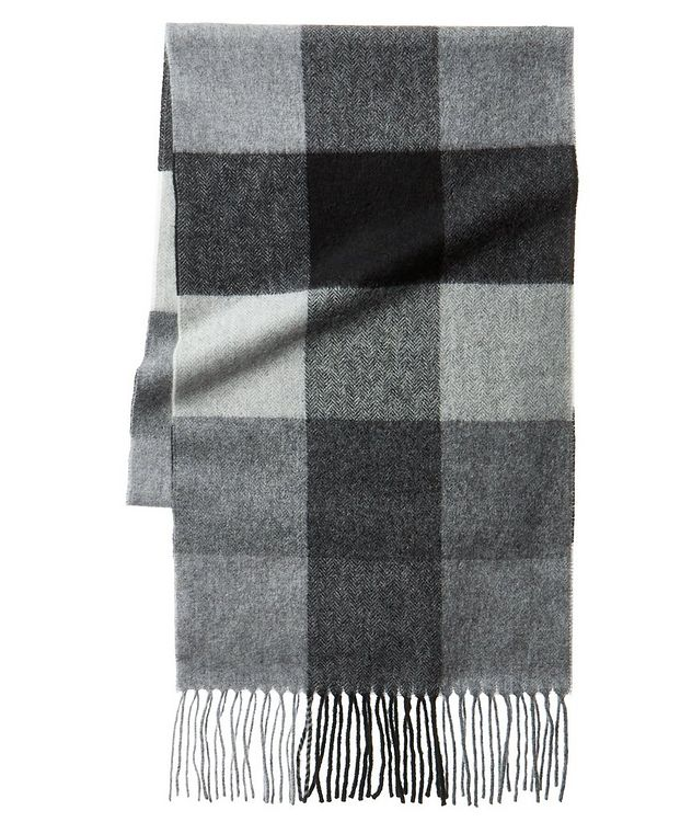 Checked Cashmere Scarf picture 1
