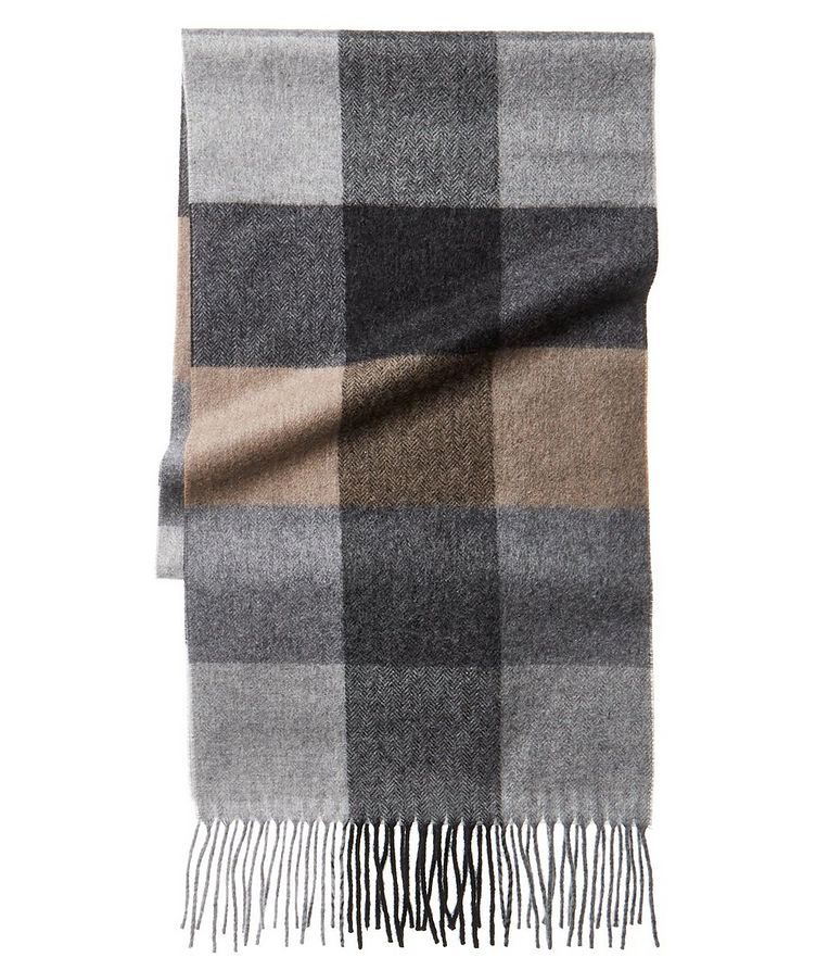 Checked Cashmere Scarf image 0