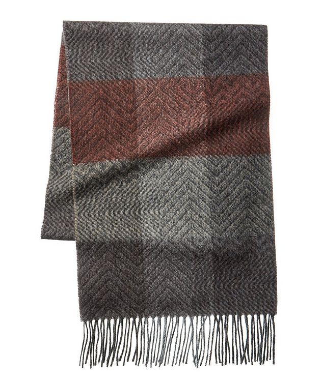 Checked Wool-Cashmere Scarf picture 1