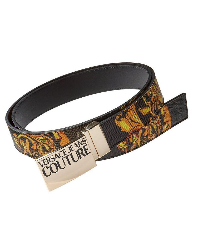 Reversible Regalia Baroque Saffiano Leather Belt image 0