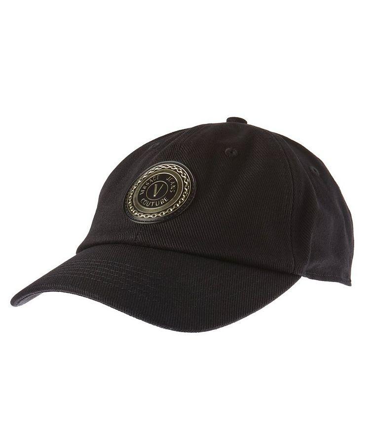 V-Emblem Cotton Baseball Cap image 0
