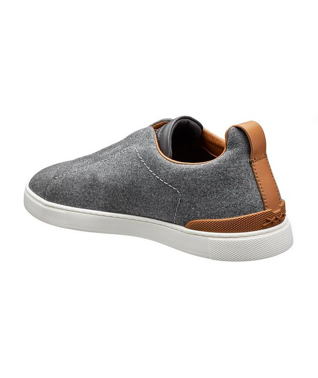 Triple Stitch Wool Slip-On Sneakers picture 2