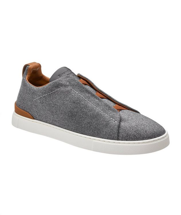 Triple Stitch Wool Slip-On Sneakers picture 1