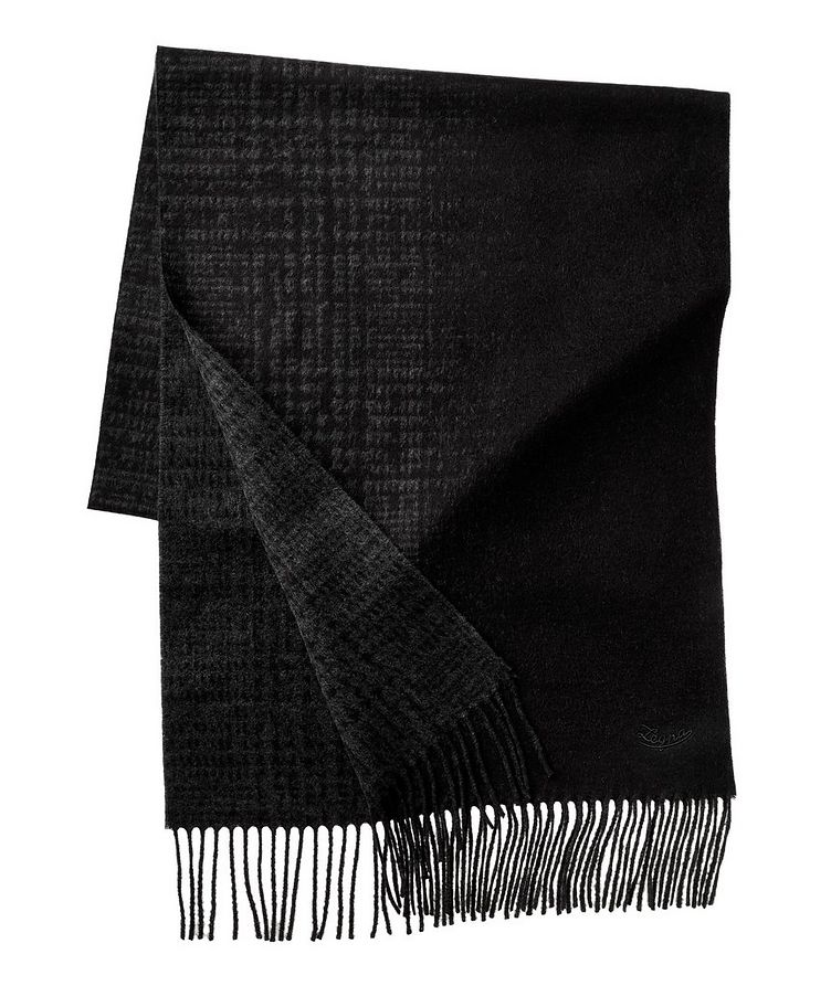 Reversible Checkered Silk Scarf image 1