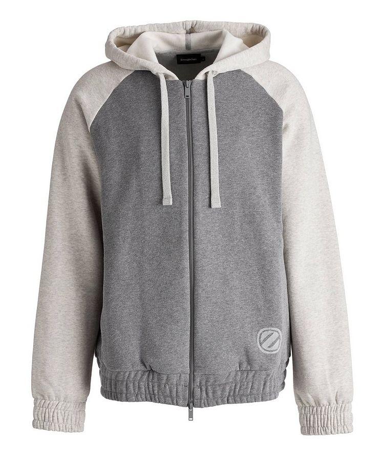Logo Zip-Up Cotton-Cashmere Hoodie image 0