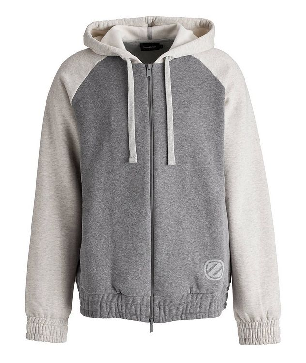 Logo Zip-Up Cotton-Cashmere Hoodie picture 1