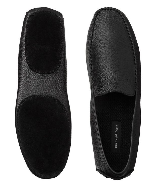 Grain Leather Slippers picture 3