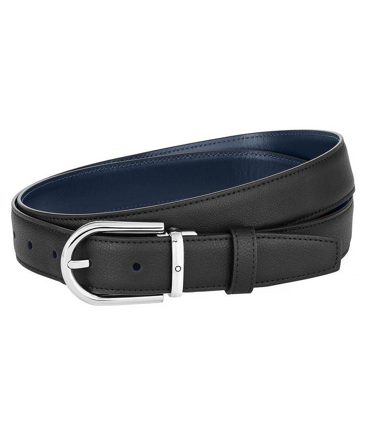 Horseshoe Buckle Leather Belt image 0