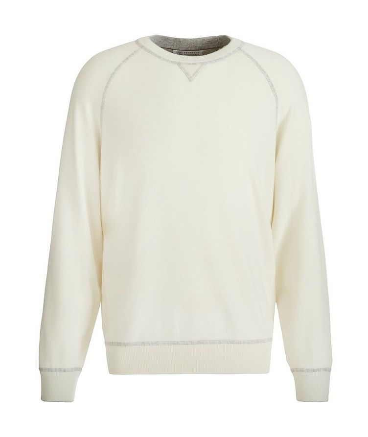 Wool, Cashmere & Silk Crew Neck Sweater image 0