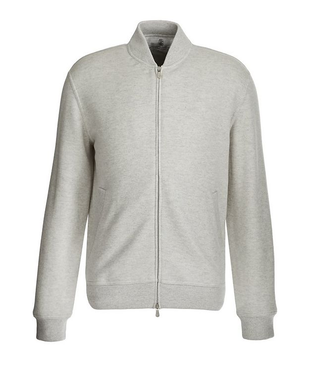 Zip-Up Cashmere Terry Cardigan picture 1