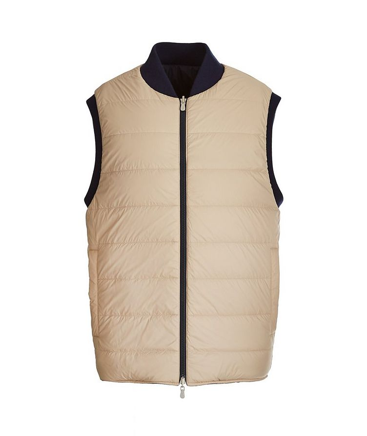 Reversible Cashmere Quilted Down Vest image 1