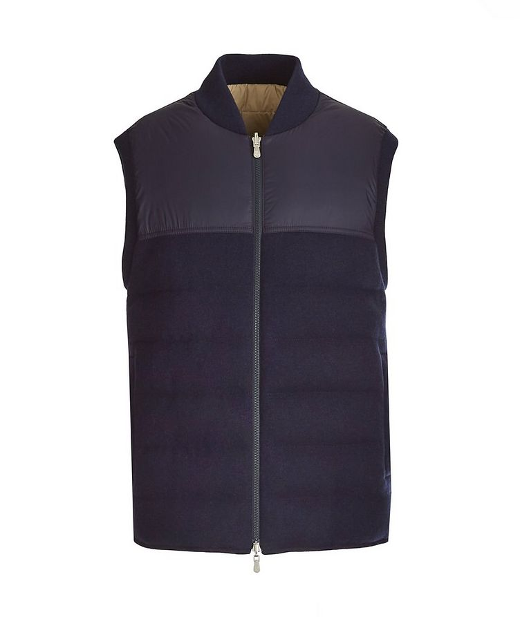 Reversible Cashmere Quilted Down Vest image 0