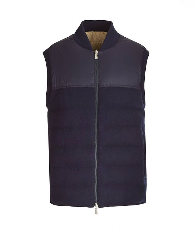 Reversible Cashmere Quilted Down Vest picture 1