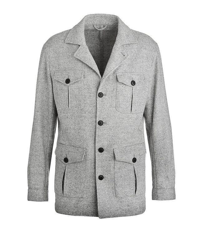 Slim Fit Herringbone Alpaca, Wool & Cotton Sports Jacket picture 1