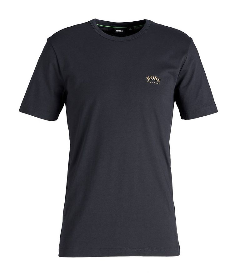 Curved Logo Cotton T-Shirt image 0