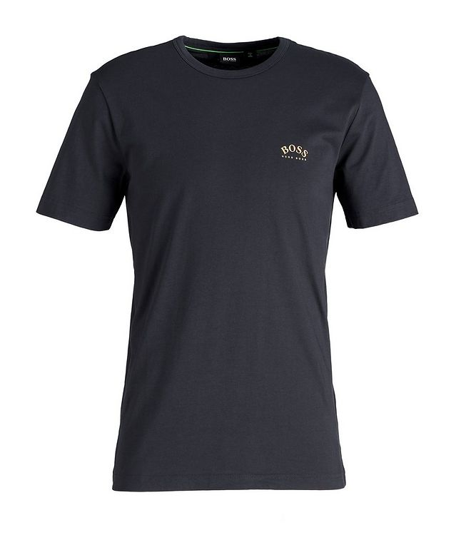 Curved Logo Cotton T-Shirt picture 1