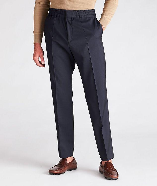 Slim Fit Drawstring Wool Dress Pants picture 2