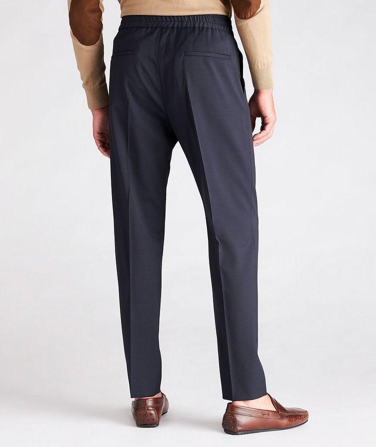 Slim Fit Drawstring Wool Dress Pants image 2