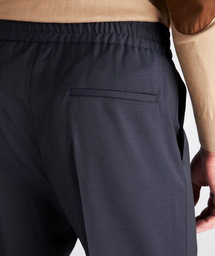 Slim Fit Drawstring Wool Dress Pants image 3