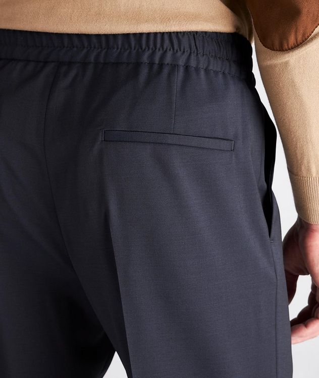 Slim Fit Drawstring Wool Dress Pants picture 4