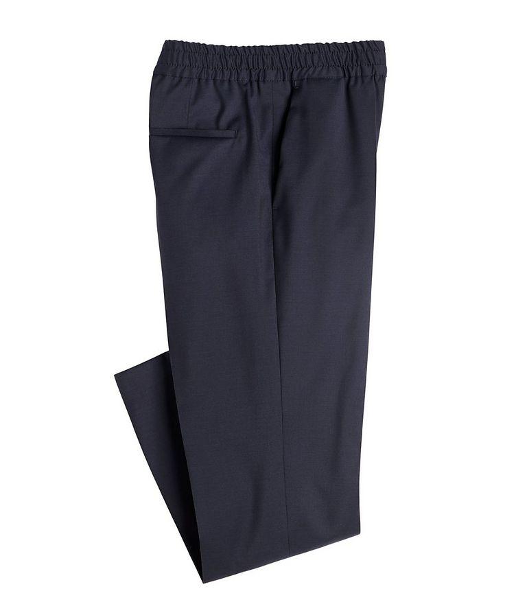 Slim Fit Drawstring Wool Dress Pants image 0