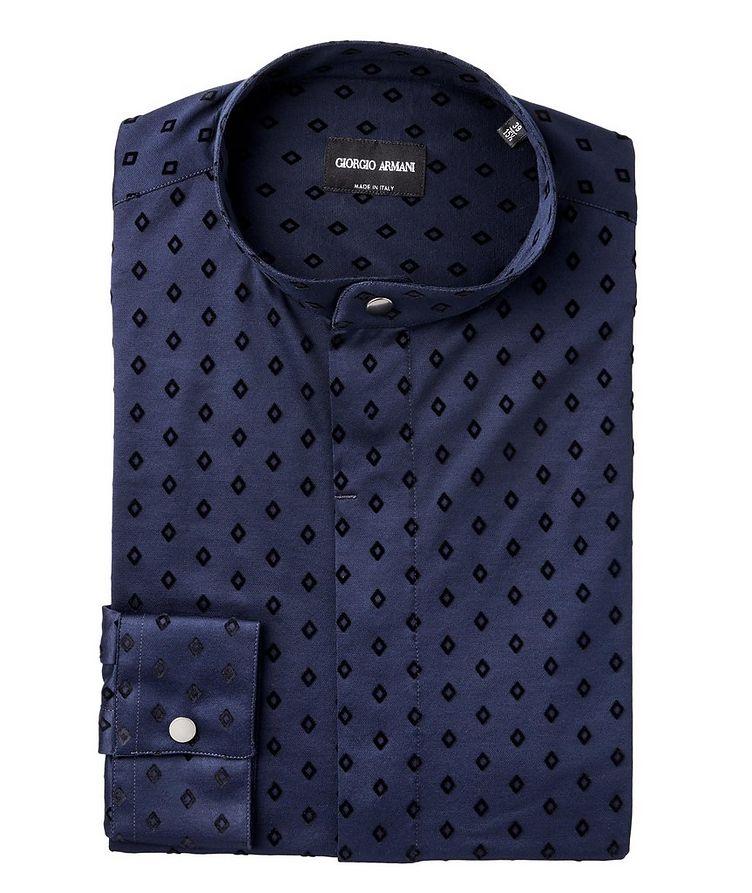 Diamond Printed Cotton Sport Shirt image 0