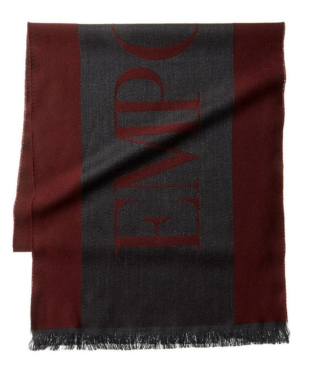 Jacquard Logo Wool Scarf picture 1