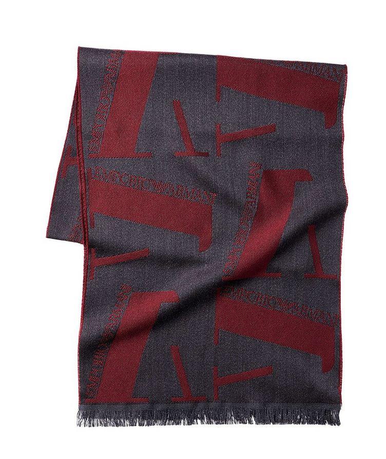 Jacquard Logo Wool Scarf image 0