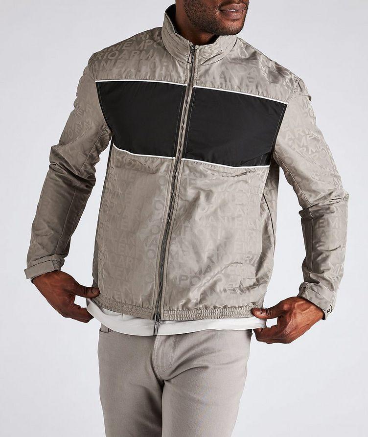 Reversible Jacquard Nylon Hooded Jacket image 1